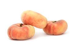 Flat Peaches Stock Images