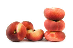 Flat peaches Royalty Free Stock Photo