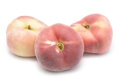 Flat peaches Royalty Free Stock Images