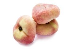 Flat peaches Stock Photography