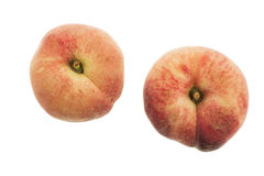 Flat Peaches Isolated Royalty Free Stock Photos