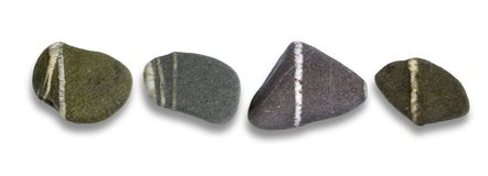 Flat pebbles Stock Photo