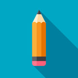 Flat Pencil Icon Royalty Free Stock Photography