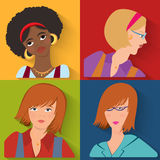 Flat people avatar beauty spa employees Stock Images