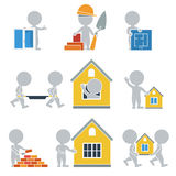 Flat people - construction Royalty Free Stock Image