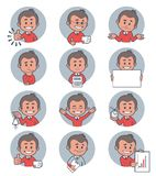 Flat people icons with business characters. Royalty Free Stock Photography