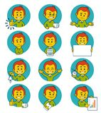 Flat people icons with business characters. Stock Photography