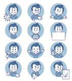 Flat people icons with business characters. Stock Image