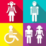 Flat People Icons Stock Photos