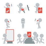 Flat people - promotion. Flat collection of people on promotion. Vector illustration Stock Images