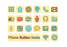 Flat Icons. Flat phone button Icons. Make with Ai. Ai file Royalty Free Stock Photos