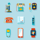 Flat phone icons Royalty Free Stock Image