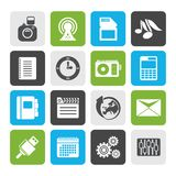 Flat Phone Performance, Business and Office Icons Stock Photo