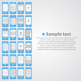 Flat phone screen background Royalty Free Stock Photography