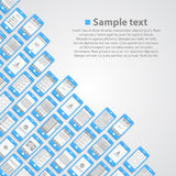 Flat phone screen background Royalty Free Stock Image