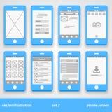 Flat phone screen. set 2. Illustration art Stock Images