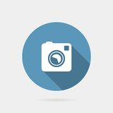 Flat  photo or camera icon Royalty Free Stock Photography