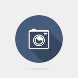 Flat photo or camera icon Stock Photo