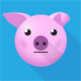 Flat pig head Royalty Free Stock Photography