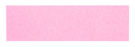 Flat pink rectangular sticky note Stock Photo