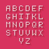 Flat Pixel Alphabet Royalty Free Stock Photography