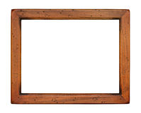 Flat plain wooden Picture Frame Royalty Free Stock Photography
