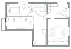 Flat plan isolated on white vector illustration