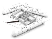 flat plan project royalty free illustration