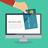 Flat plastic card Stock Photo