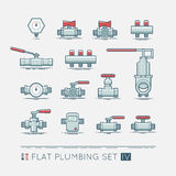 Flat plumbing icon set. Quality flat icons set of sanitary equipment vector illustration