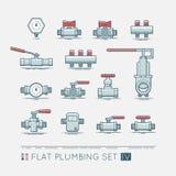 Flat plumbing icon set. Quality flat  icons set of sanitary equipment Stock Photo