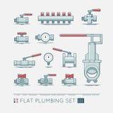 Flat plumbing icon set. Quality flat  icons set of sanitary equipment Stock Image