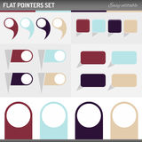 Flat pointers Royalty Free Stock Images
