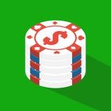 Flat poker table. Flat Poker table. Isometric Stock Photography