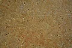 Flat Polished Natural Sandstone Marble Stone Surface Texture Background Stock Photo Brown Beige Ocher royalty free stock photography