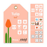 Flat price tag for Tulip Stock Photography