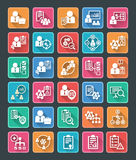 Flat Project Management Icons Stock Images