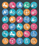 Flat Project Management Icons. Vector illustration of 30 flat icons, project management icons Royalty Free Stock Image