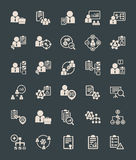 Flat Project Management Icons Royalty Free Stock Images