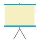 Flat Projector Screen illustration vector and raster. Flat modern Illustration of a projector in vector and raster versions vector illustration