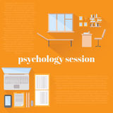 Flat psychologist office for counseling Royalty Free Stock Photography