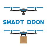 Flat quadrocopters icons Stock Photography