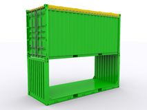 Flat Rack Container Stock Photography