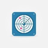 Flat radar icon Stock Photos