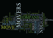 Flat Rate Movers In Nyc Text Background Word Cloud Concept stock illustration