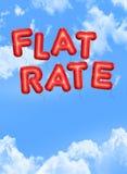 Flat rate vector illustration
