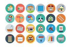 Flat Real Estate Vector Icons 2 Royalty Free Stock Image