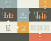 Flat rectangle box diagram for infographics. Vector module chart Stock Photo
