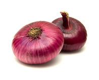 Flat red onion Stock Image
