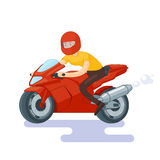 Flat Red Sport Bike Concept Stock Images